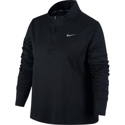 Bluza cu fermoar Nike Dri Fit Element pentru Femei negru