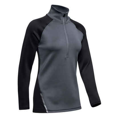 Bluza cu fermoar Under Armour ColdGear pentru Femei gri negru