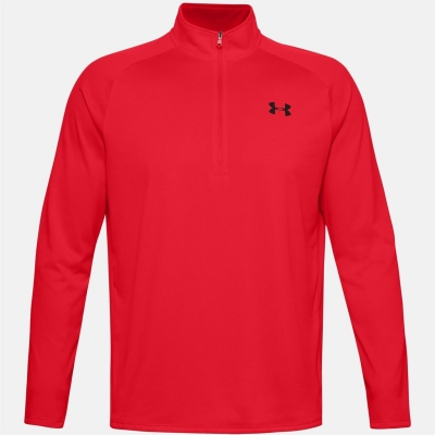Bluza cu fermoar Under Armour Technical pentru Barbati rosu negru