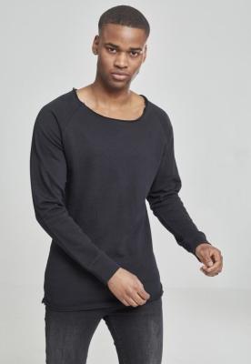 Bluza cu guler rotund long negru Urban Classics