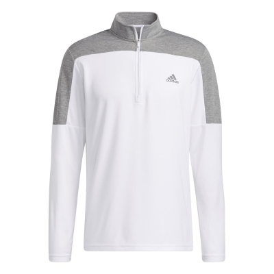 Bluza cu maneca lunga adidas LW Quarter cu fermoar pentru Barbati alb