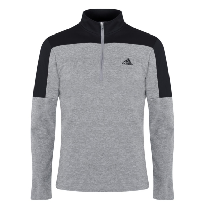 Bluza cu maneca lunga adidas LW Quarter cu fermoar pentru Barbati gri