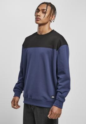 Bluza culoare contrast bleumarin-negru Urban Classics