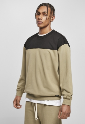 Bluza culoare contrast kaki-negru Urban Classics