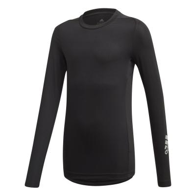 Bluza de corp adidas AlphaSkin pentru copii negru