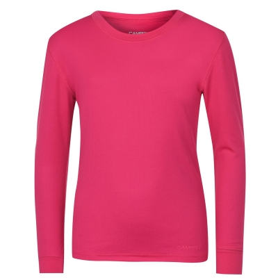 Bluza de corp Campri termic Unisex pentru copii roz