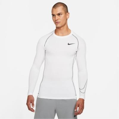 Bluza maneca lunga Nike Pro Core pentru Barbati alb