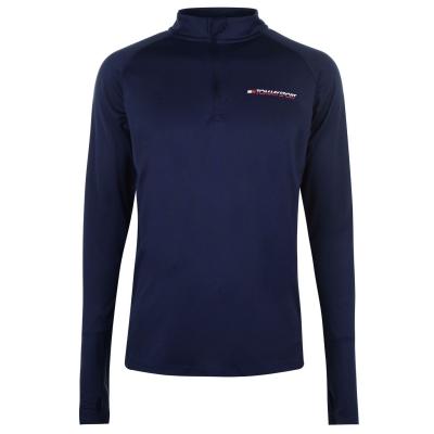 Bluza de corp Tommy Sport cu fermoar bleumarin
