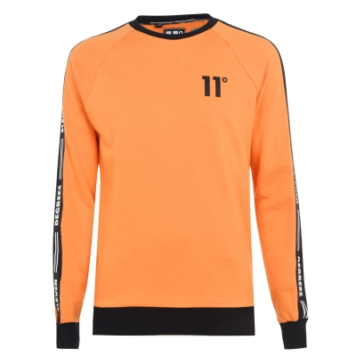 Bluza de trening 11 Degrees Taped Ringer blaze portocaliu