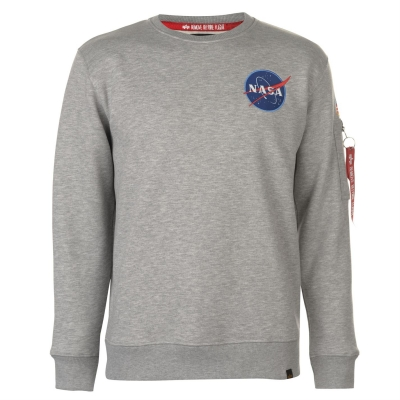 Bluza de trening Alpha Industries Space Shuttle gri deschis