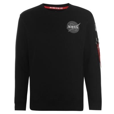 Bluza de trening Alpha Industries Space Shuttle negru
