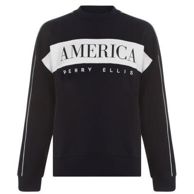 Bluza de trening Bluza cu dungi Perry Ellis Logo negru