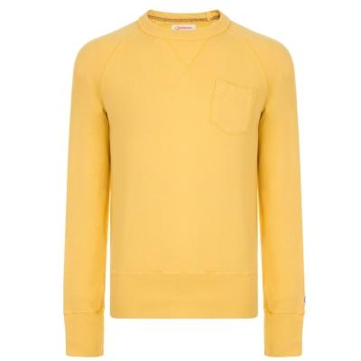 Bluza de trening CHAMPION cu guler rotund auriu galben