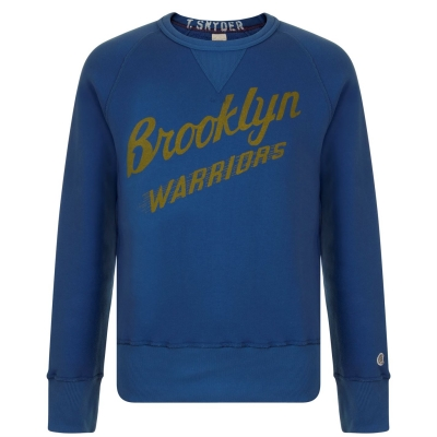 Bluza de trening CHAMPION Logo washed albastru roial