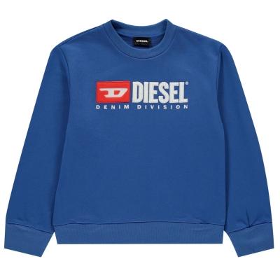Bluze cu guler rotund Diesel Division pentru baietei albastru k89e