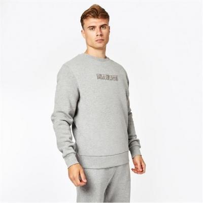 Bluza de trening Everlast Embroidered cu guler rotund gri