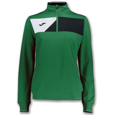 Bluza de trening Joma Crew II verde-negru pentru Femei