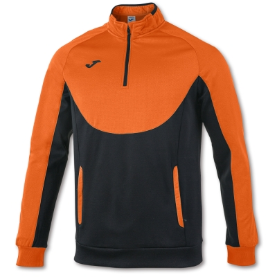 Bluza de trening Joma Essential 1/2 Zipper Orange-negru portocaliu
