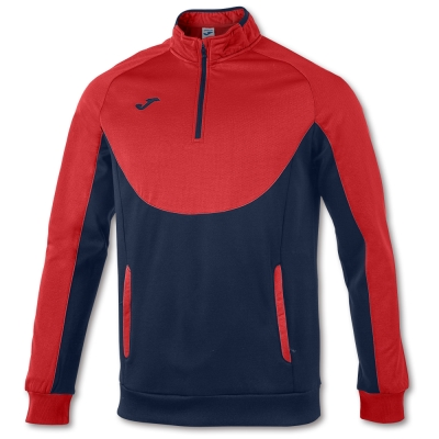 Bluza de trening Joma Essential 1/2 Zipper rosu-bleumarin albastru roial