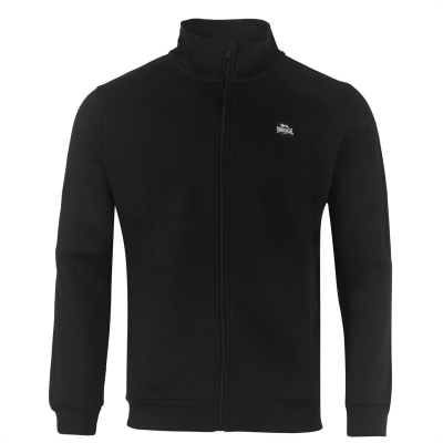 Bluza de trening Lonsdale 2 cu dungi cu fermoar pentru Barbati negru alb
