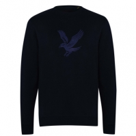 Bluza de trening Lyle and Scott Embroidery Eagle inchis bleumarin z271