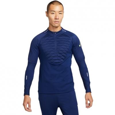 Bluza de trening Nike NK Therma-Fit Strike Drill Top iarna Warrior bleumarin DC9156 492 pentru Barbati