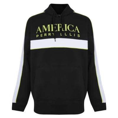 Bluza de trening PERRY ELLIS Racer cu gluga negru