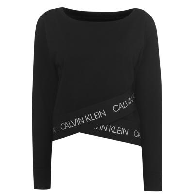 Bluza de trening Pulovere Calvin Klein Performance Boatneck ck negru