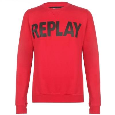Bluza de trening Replay rubin rosu