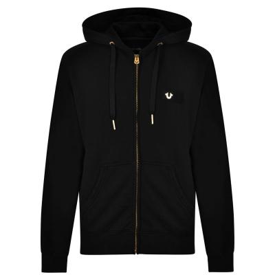 Hanorac True Religion Logo negru auriu smu