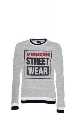 Bluza femei Raglan Crew Logo Grey Vision Street Wear
