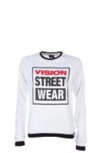 Bluza femei Raglan Crew Logo White Vision Street Wear