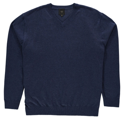 Bluza guler V Fusion pentru Barbati albastru deschis