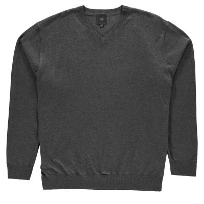 Bluza guler V Fusion pentru Barbati gri carbune mov
