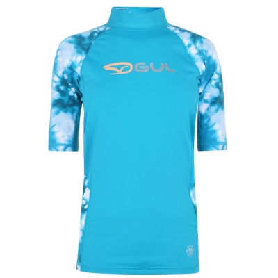 Bluza inot Gul cu Maneca Scurta pentru Femei bleu multicolor