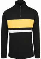 Bluza maneca lunga 3 culori negru-chromeyellow Urban Classics