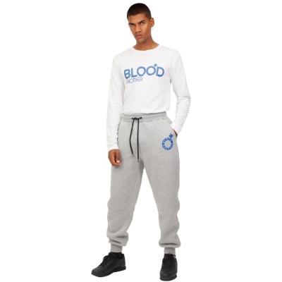 Bluza maneca lunga Blood Brother Fight Club alb