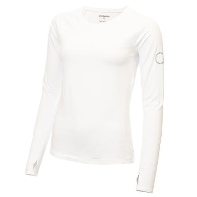 Bluza maneca lunga Calvin Klein Golf alb