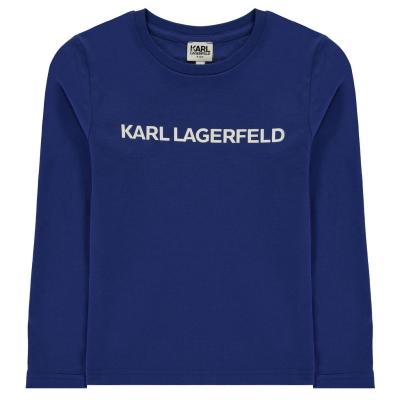 Bluza maneca lunga KARL LAGERFELD Multi Theme pentru baieti pentru Copii bleu roi