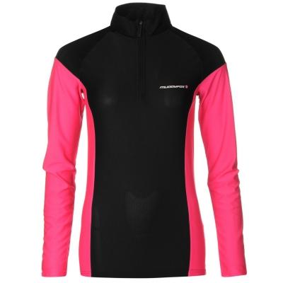 Bluza maneca lunga Muddyfox ciclism pentru Femei negru roz