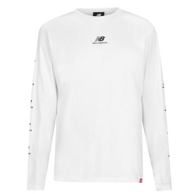 Bluza maneca lunga New Balance Essential pentru Barbati alb