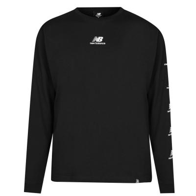 Bluza maneca lunga New Balance Essential pentru Barbati negru