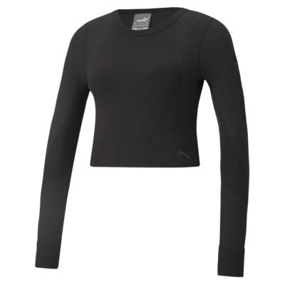 Bluza maneca lunga Puma Seamless pentru Femei negru