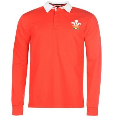 Bluza maneca lunga Rugby Cupa Mondiala pentru Barbati rosu