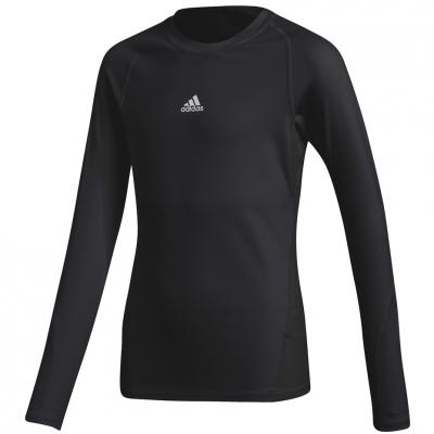 Bluza maneca lunga Adidas Alphaskin Sport negru CW7324 pentru copii