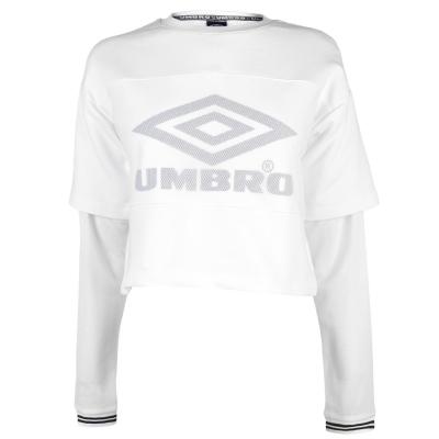 Bluza maneca lunga Umbro Rail alb