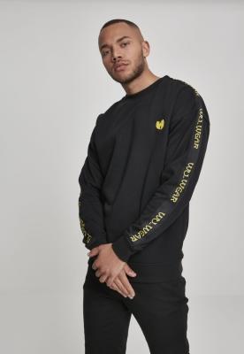 Bluza maneca lunga Wu-Wear Tape Chest Embroidery negru