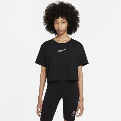 Bluza scurta Nike Print negru