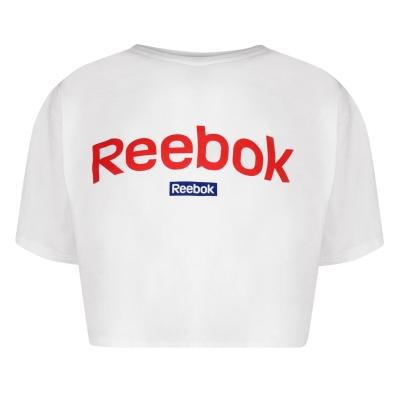Bluza scurta Reebok Linear pentru Femei alb