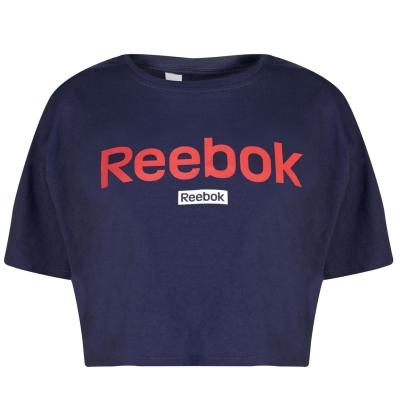 Bluza scurta Reebok Linear pentru Femei heritage bleumarin